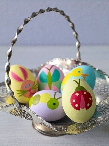 Animal-themed Easter eggs are great fun for kids.