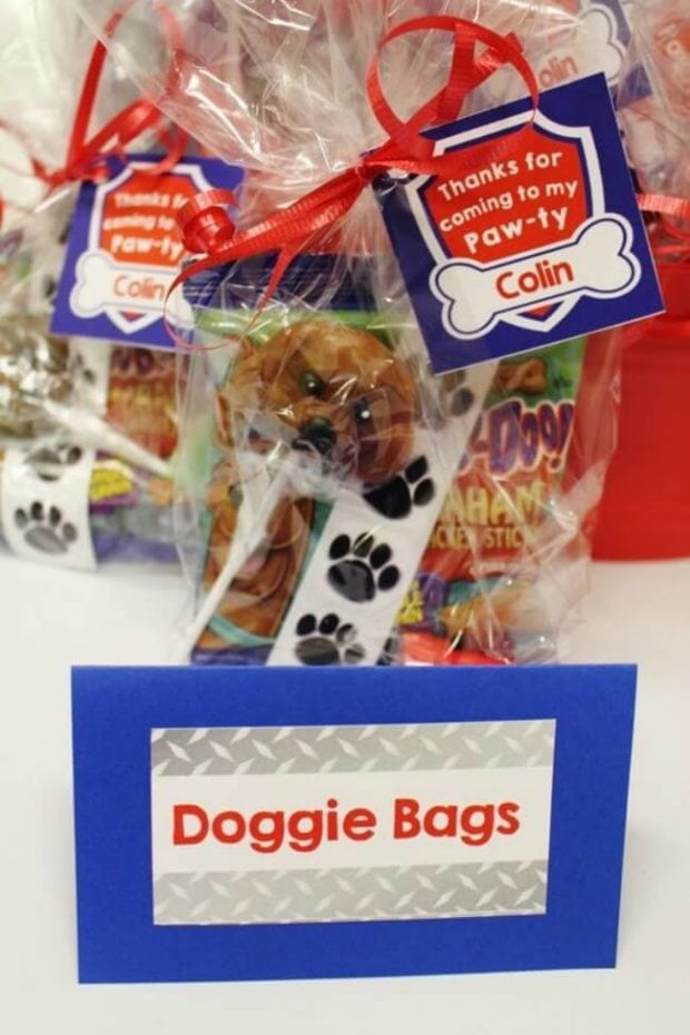 Doggie Bags Paw-ty Favors for a PAW patrol party