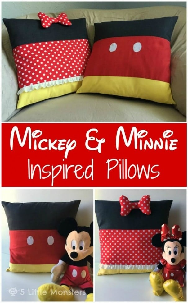 28 Mickey and Minnie Inspired Pillows