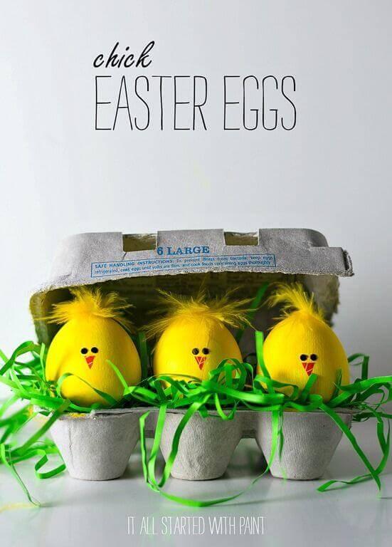 baby chick easter eggs - Easter Egg Ideas