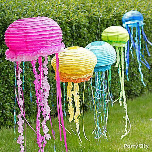 Jelly Fish Hanging Lanterns