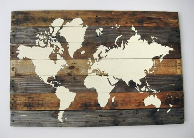 3 Pallet Board World Map