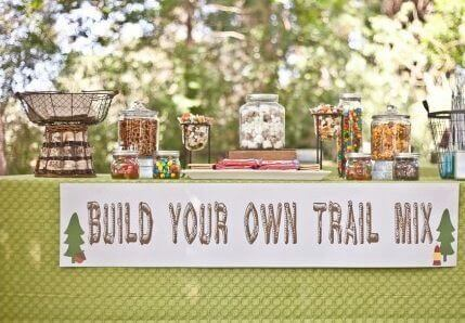 Camping Party Build-Your-Own Trail Mix Bar