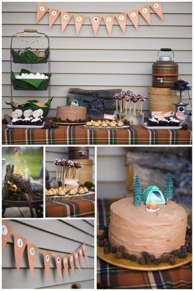 Camping Themed Boys Birthday Party