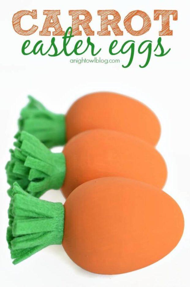 Little carrot Easter egg decorating ideas