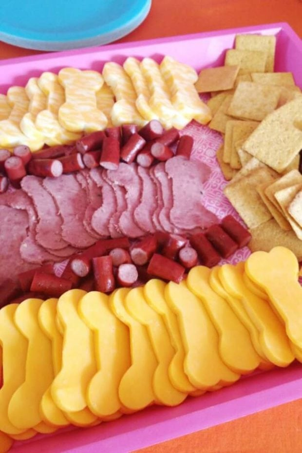 Bone Shaped Meat & Cheese for a PAW Patrol party