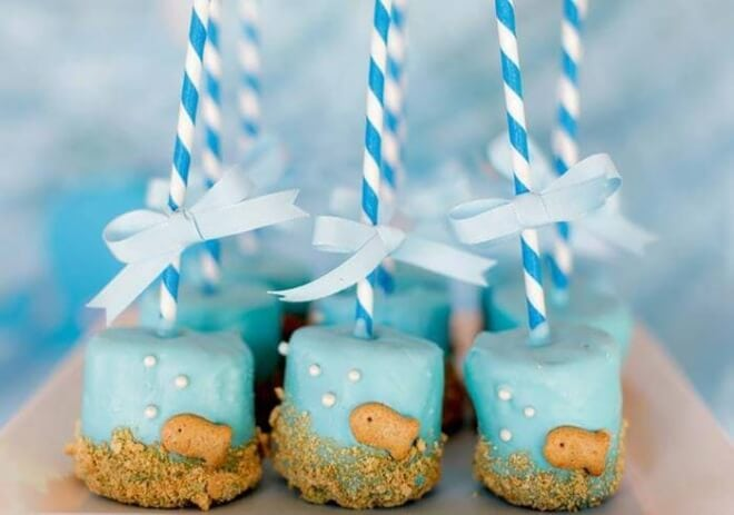 fish Marshmallow Pops