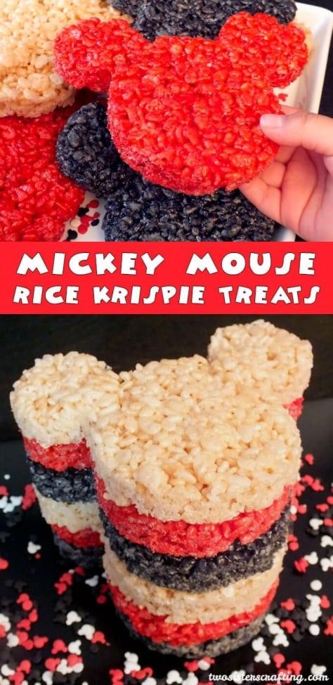 7 Mickey Mouse Rice Krispie Treats