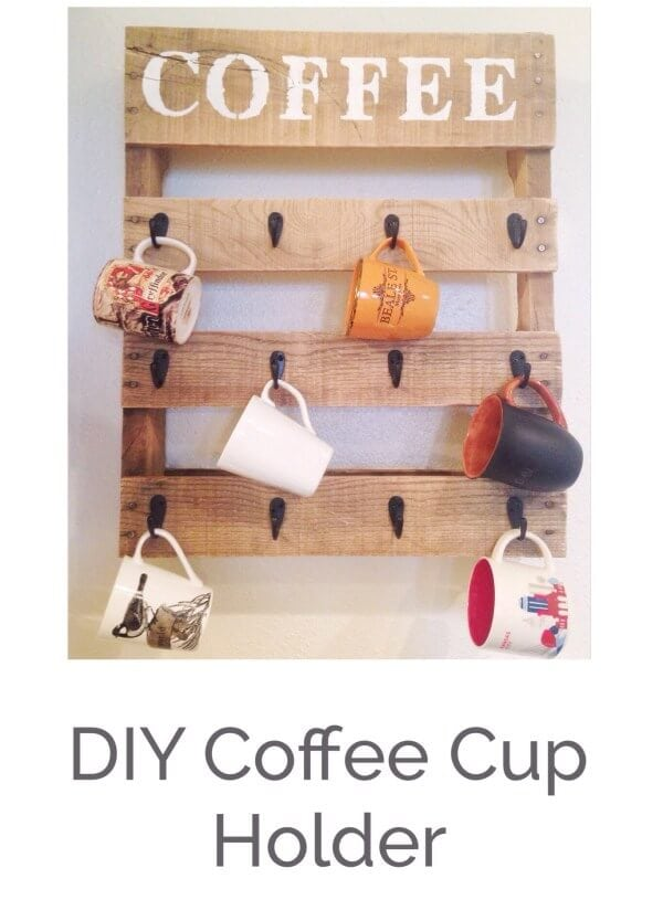 7 Pallet Coffee Cup Holder