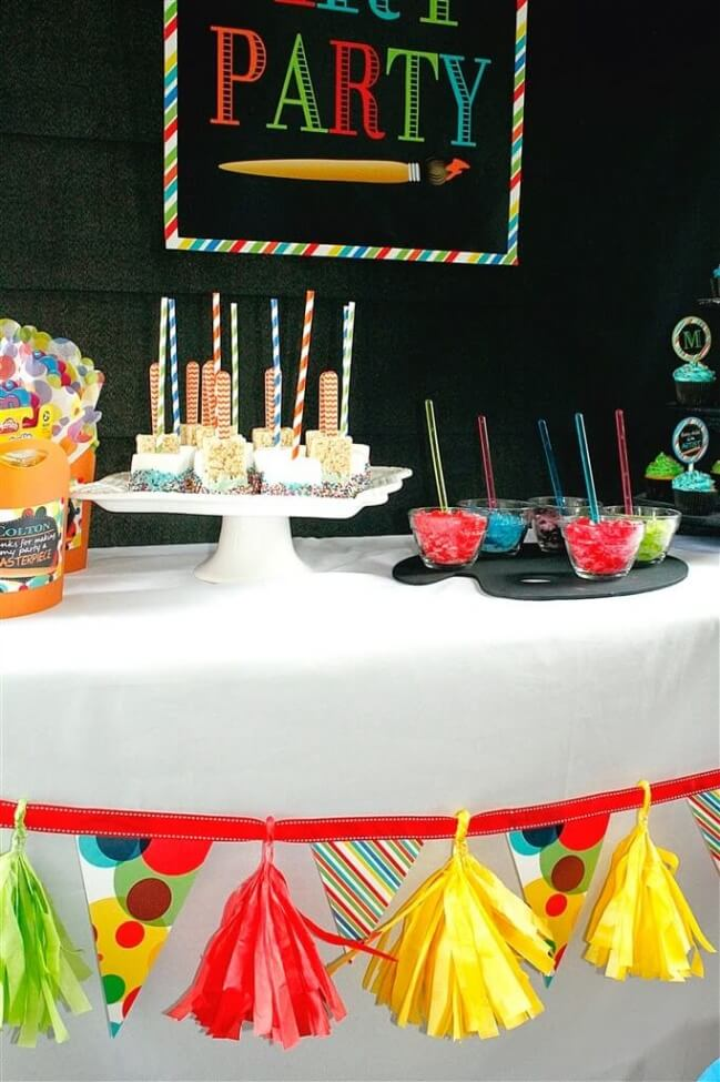 Boys Art Themed Birthday Party Banner Ideas