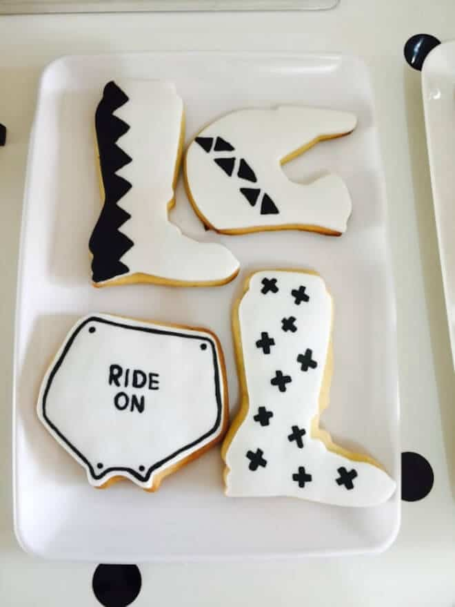 Boys Motor Cross Themed Birthday Party Food Cookie Ideas