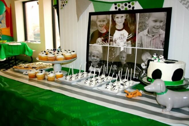 Boys Puppy Themed Birthday Party Dessert Table