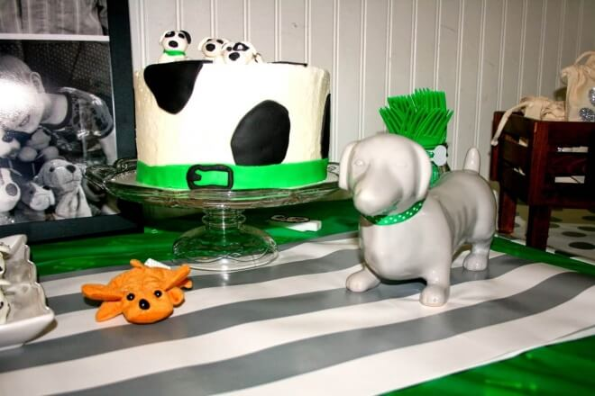 Boys Puppy Themed Birthday Party Food Cake Ideas