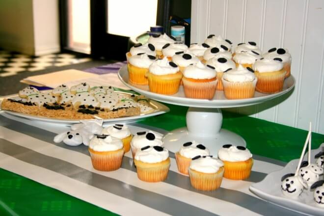 Boys Puppy Themed Birthday party food cupcake Ideas