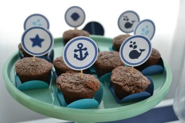 Boys Whale Themed Shower Party Food Truffle Ideas