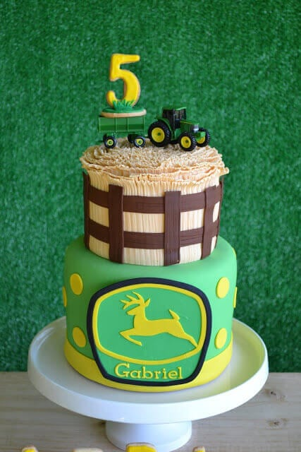 Boy's Farm Tractor Birthday Cake
