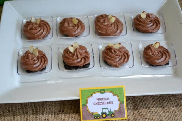 Farm tractor birthday party dessert