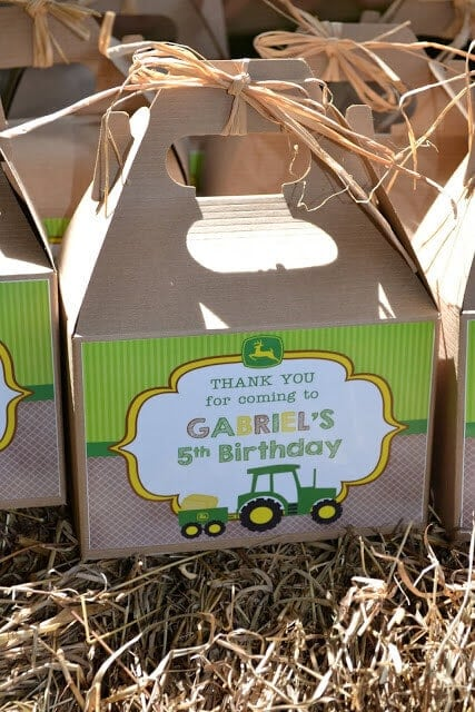 Farm Tractor Birthday Party Favors