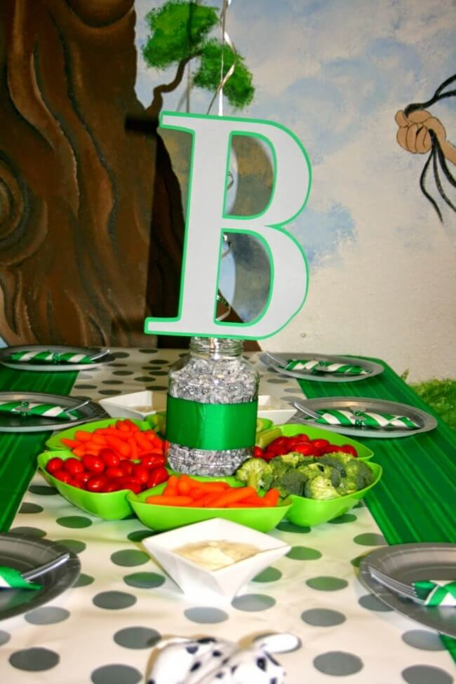 Puppy Themed Boys Birthday Party Centerpiece ideas