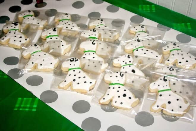 Puppy Themed Boys birthday party cookie favor ideas