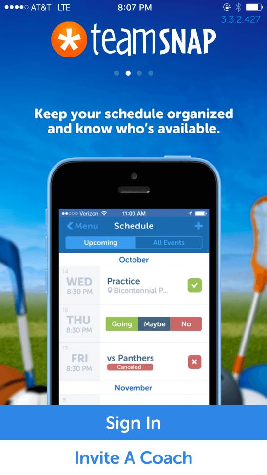Team Scheduling App