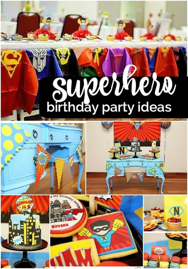 Boys Superhero Birthday Party Ideas 1