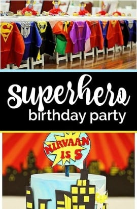 boys-superhero-birthday-party-pinterest