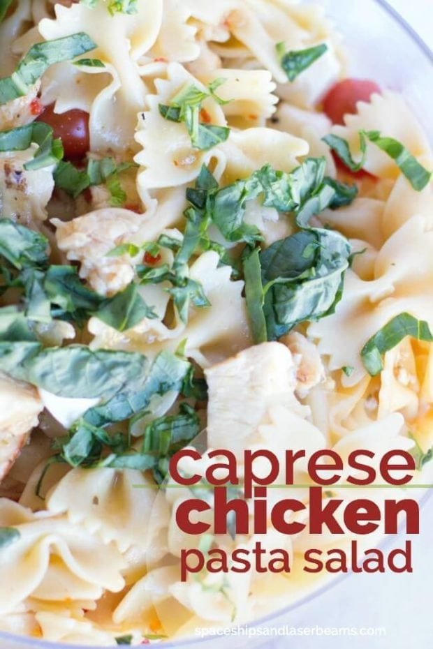 Caprese Chicken Pasta Salad Recipe