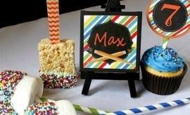 Boys Art Birthday Party Food Ideas