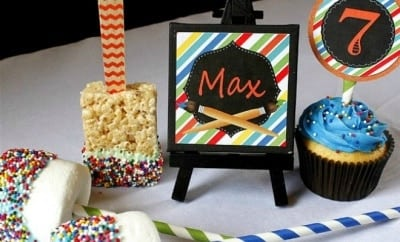 Boys Art Birthday Party Food Ideas