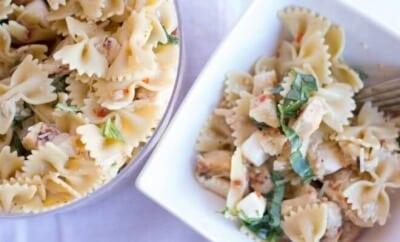 Caprese Chicken Pasta Salad Recipe
