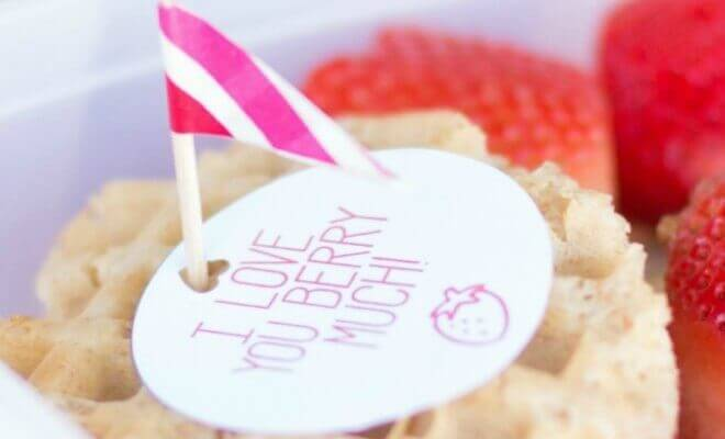 Cute Valentine's Day Lunch Printable for Kids
