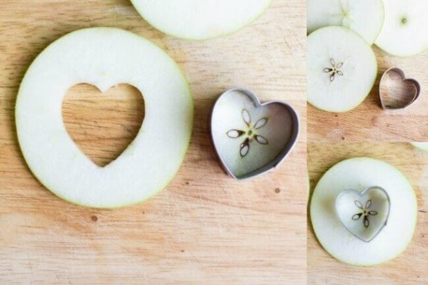 Heart Apple Snack for Valentine's Day