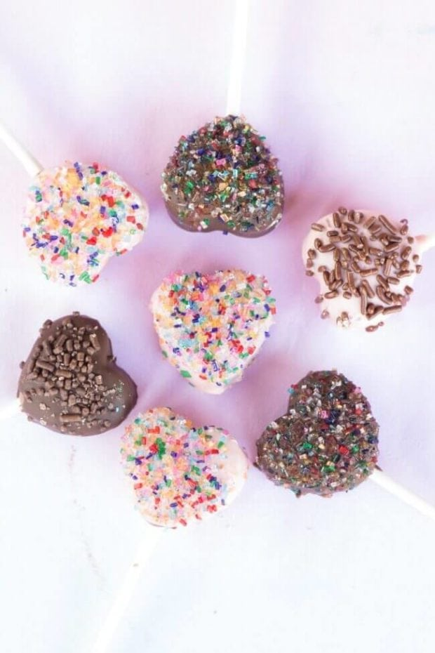 Heart Shaped Cake Pop