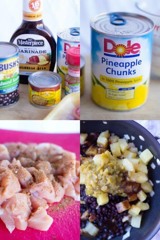 Ingredients for Pineapple Jerk Chicken