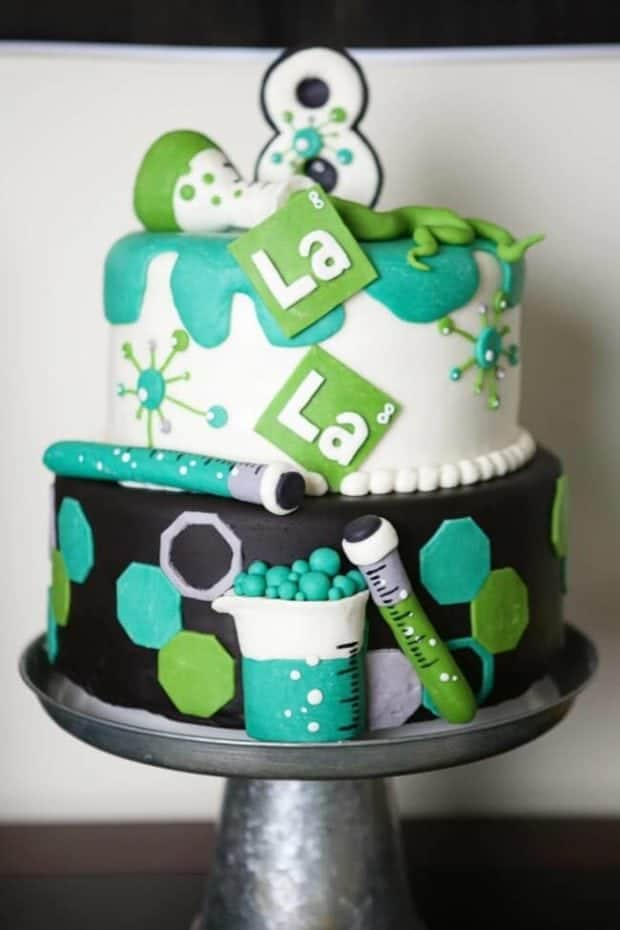Science Themed Birthday Cake