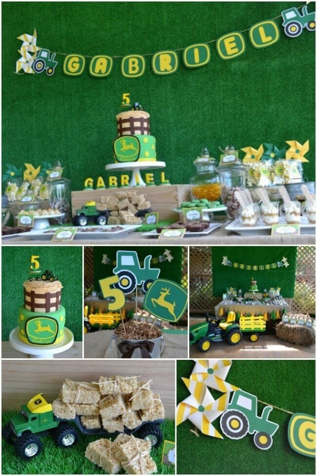 A boy 39 s tractor birthday party spaceships and laser beams for 1st birthday party decoration ideas boys