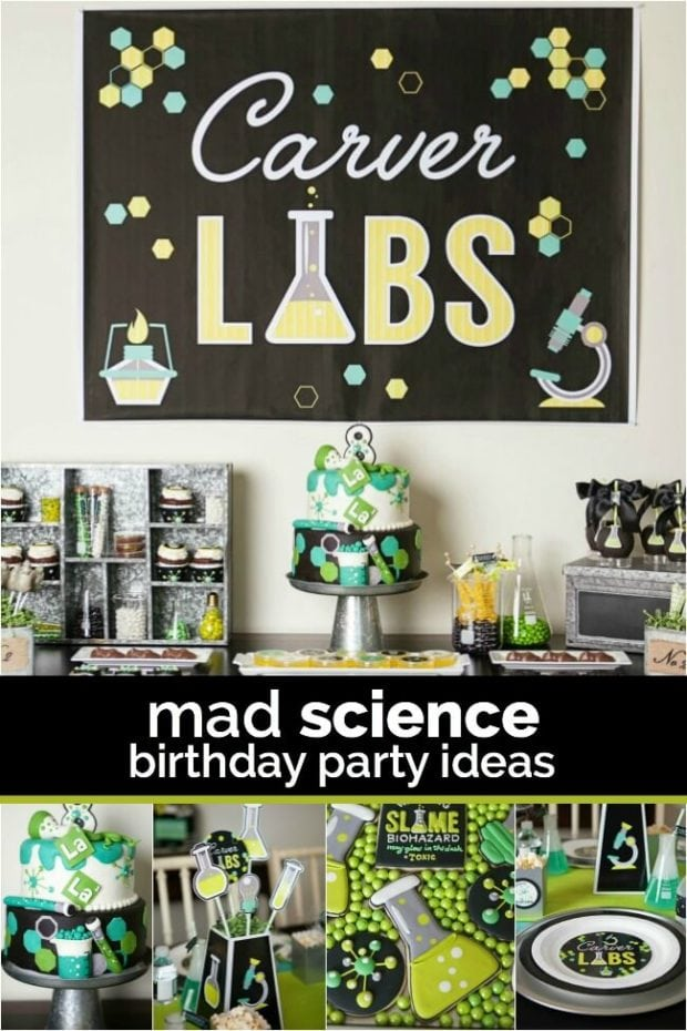 A Boys Laboratory Science Birthday Party – Mad Scientist Birthday Party Invitations