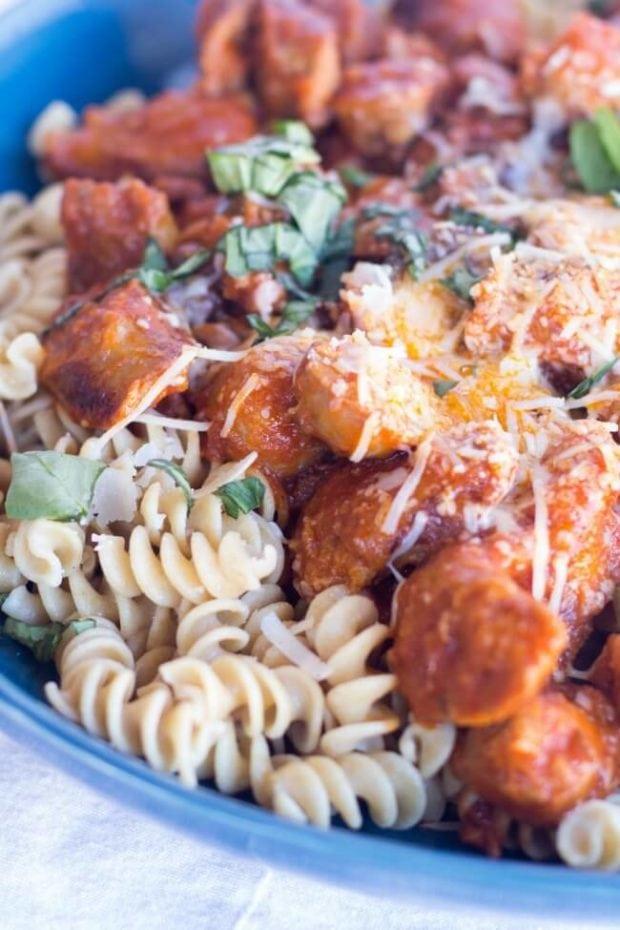 Pasta Mushroom Sausage Recipe