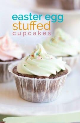 Easter Egg Stuffed Cupcakes