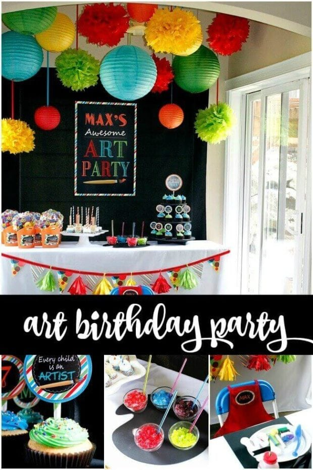 Boys Art Themed Birthday Party