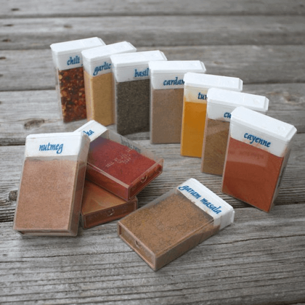 Tic-Tac containers are the perfect size for storing spices while you camp.
