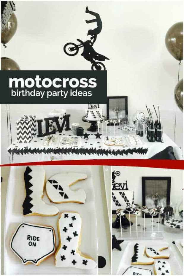 Boys' Motorcross Birthday Party Ideas from Spaceships and Laser Beams