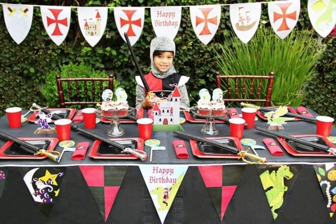 Knights and Dragons Birthday Party Game Ideas