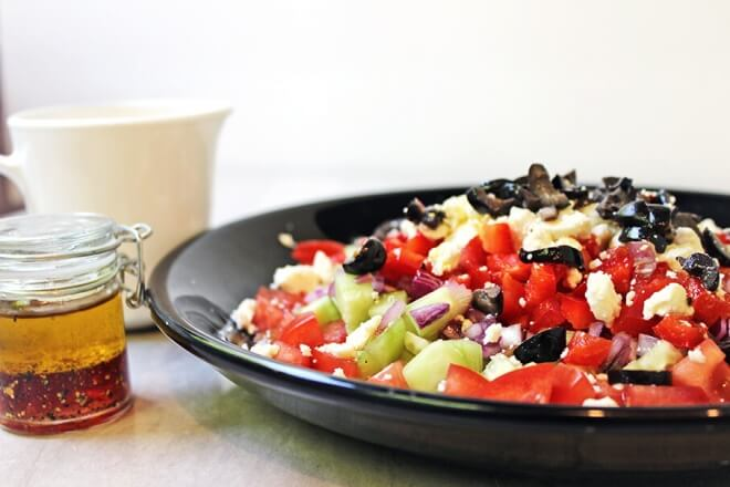 Greek Rainbow Vegetable Salad