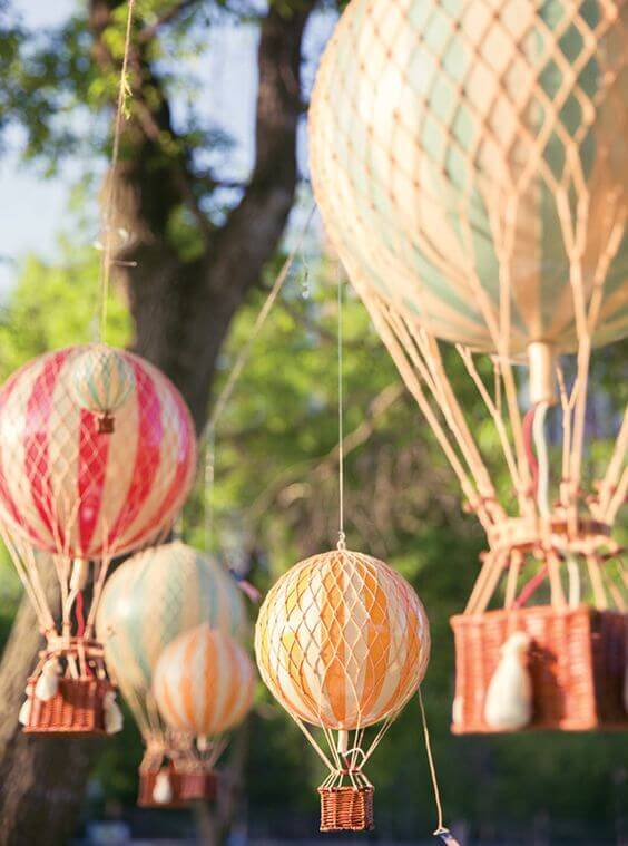 Hot air balloon party ideas spaceships and laser beams