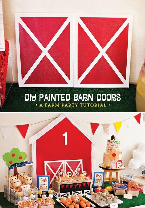 DIY Painted Barn Doors Tutorial