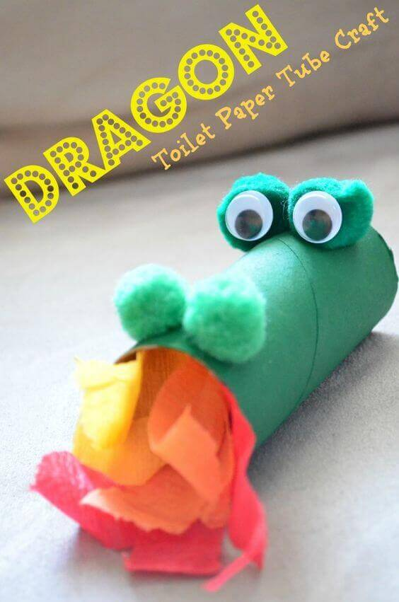Dragon Toilet Paper Tube Craft