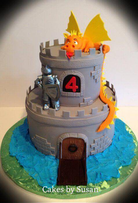 Dragon Castle Cake Ideas