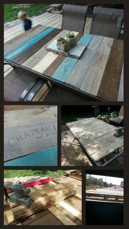 DIY Pallet Table Top